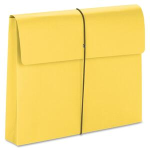 Smead 77206 Yellow Expanding Wallets with Elastic Cord SMD77206
