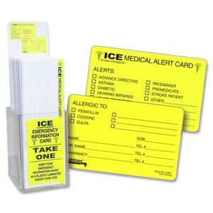 Tabbies Acrylic Emergency Information Card Display TAB34651