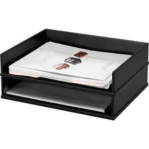 Victor Midnight Black Letter Desk Tray VCT11545
