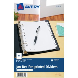Avery Preprinted Monthly Tab Divider AVE11315