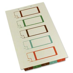 SJ Paper Bottom Tab TOC Divider SJPS08275