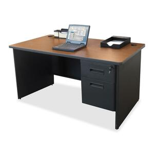 Lorell 67000 Series Single Pedestal Desk LLR67781
