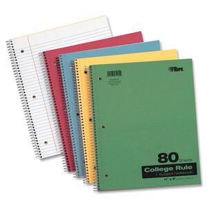 TOPS 1-Subject Kraft Notebook TOP65130