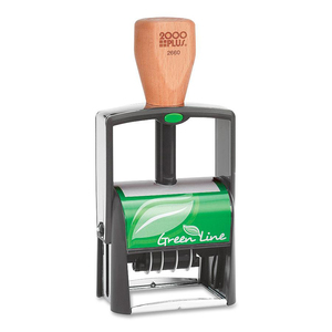 COSCO 2000 Plus Green Line Two-Color Dater Stamp COSG2660