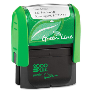 COSCO 2000 Plus Green Line Self-inking Stamp COSGP20