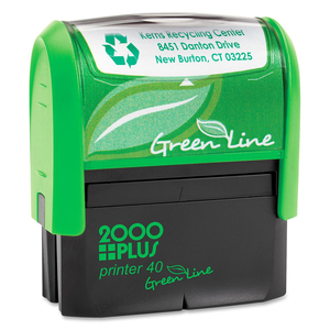 COSCO 2000 Plus Green Line Self-inking Stamp COSGP40