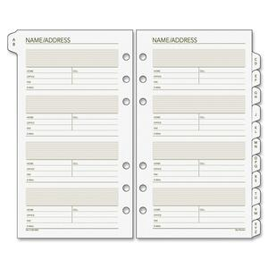 Day Runner Telephone/Address A-Z Planner Tab DRN0230200