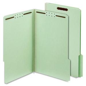 Globe-Weis Pressboard Folders with Fastener, Light Green GLW24944GW