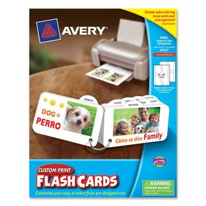 Avery Custom Print Flash Card AVE04753