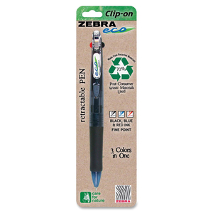 Zebra Pen Eco Clip-on 3-in-i Retractable Pen ZEB26311