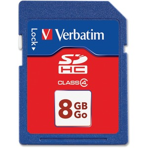 Verbatim 8GB SDHC Memory Card, Class 4 VER97303