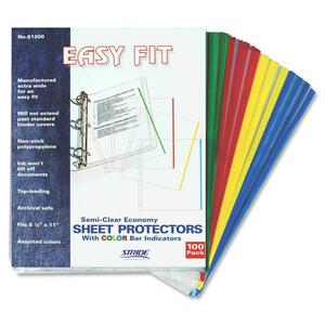 Stride Easy Fit Semi-clear Sheet Protectors STW61200