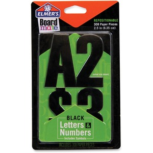 Elmer's Project Popperz Black Letters & Numbers EPIE3069