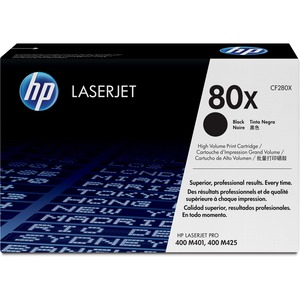 HP 80X (CF280X) High Yield Black Original LaserJet Toner Cartridge HEWCF280X