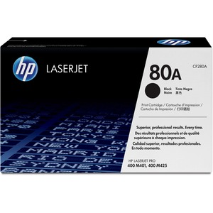 HP 80A (CF280A) Black Original LaserJet Toner Cartridge HEWCF280A