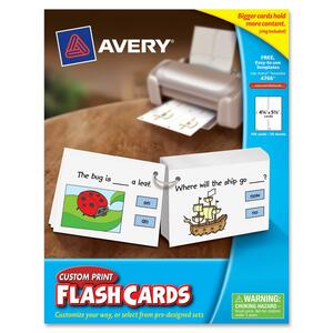 Avery Printable Flash Card AVE04766