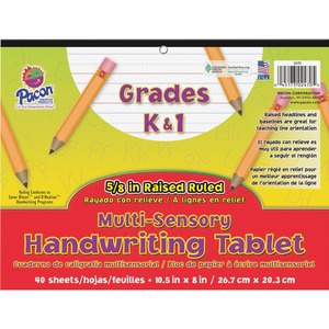Pacon Multi-Sensory Raised Ruled Paper PAC2470