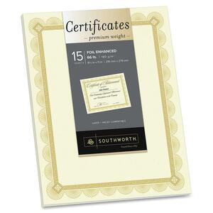 Southworth Foil Border Premium Inkjet Certificates SOUCTP2V