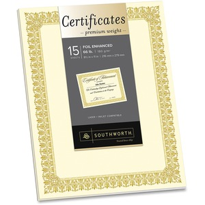 Southworth Foil Border Premium Inkjet Certificates SOUCTP1V