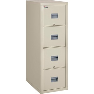 Patriot Insulated 4-Drawer Fire File, 20-3/4w x 31-5/8d x 52-3/4h, Parchment FIR4P2131CPA