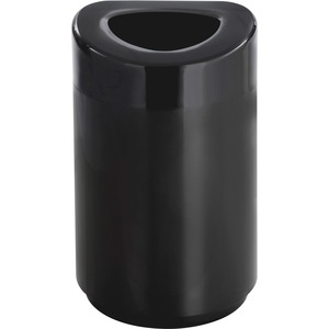 Safco 30 Gal. Oval Open Top Receptacle SAF9920BL