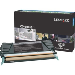 Lexmark C746, C748 Black High Yield Return Program Toner Cartridge LEXC746H1KG