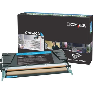 Lexmark C746, C748 Cyan Return Program Toner Cartridge LEXC746A1CG