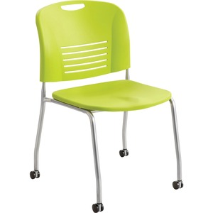 Safco Vy Straight Leg Stack Chairs w/ Casters SAF4291GS