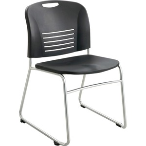 Safco Vy Sled Base Stack Chairs SAF4292BL
