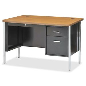 Lorell Fortress Series Single Ped Teacher's Desk LLR41295
