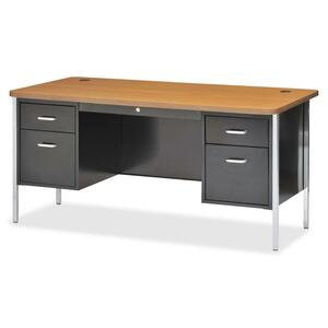 Lorell Fortress Series Double Ped Teacher's Desk LLR41299