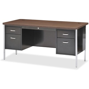 Lorell Fortress Series Double Ped Teacher's Desk LLR41300