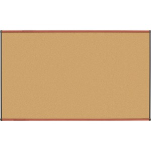 Lorell Cherry Finish Natural Cork Board LLR60640