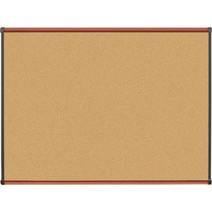 Lorell Cherry Finish Natural Cork Board LLR60641