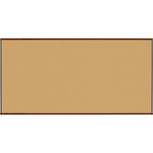 Lorell Mahogany Finish Natural Cork Board LLR60642