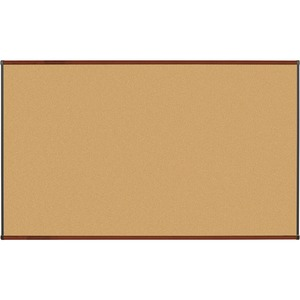 Lorell Mahogany Finish Natural Cork Board LLR60643