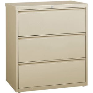 Lorell 3-Drawer Putty Lateral Files LLR88027
