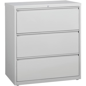 Lorell 3-Drawer Lt. Gray Lateral Files LLR88029
