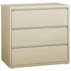 Lorell 3-Drawer Putty Lateral Files LLR88030