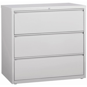 Lorell 3-Drawer Lt. Gray Lateral Files LLR88032