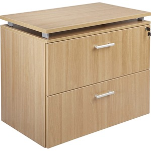 Lorell Concordia Series Latte Laminate Desk Ensemble LLR81936
