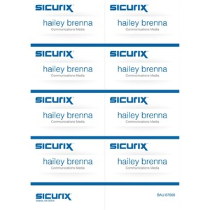 Baumgartens Sicurix Name Badge Kit Insert BAU67660