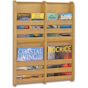 Safco 4-Pocket Bamboo Magazine Wall Rack SAF4623NA