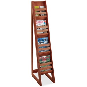 Safco 4-Pocket Bamboo Magazine Display SAF4622CY