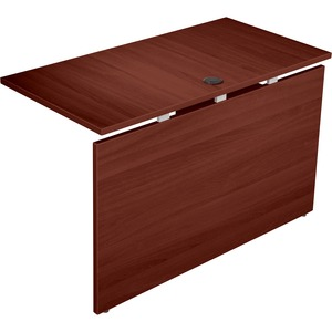 Lorell Concordia Series Mahogany Laminate Desk Ensemble LLR81943