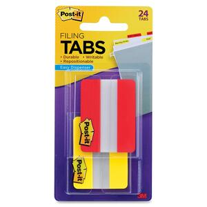 Post-it Portable Pack Durable File Index Tabs MMM6862RYT