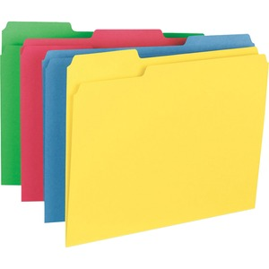 Business Source Heavyweight Assorted Color File Folder BSN16517