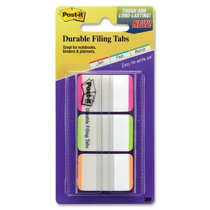 "Post-it Durable 1"" Lined Trial Tabs MMM686LPGOT"