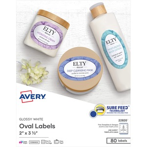 Avery Easy Peel Oval Label AVE22820