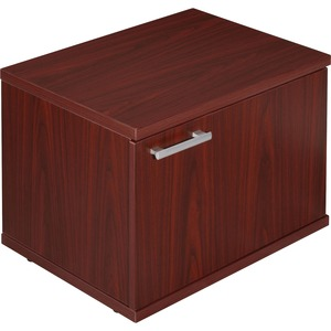 Lorell Concordia Series Mahogany Laminate Desk Ensemble LLR81923